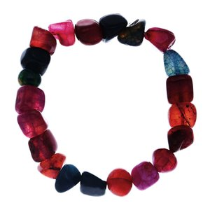 Trendy Natural Stone Ice Crack Color Lithotripsy Agate Bead Bracelet Charm Round Chain Beads Bracelets Jewelry For Women Friend Gifts
