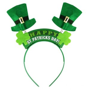 Irlandês St Patricks Dia Headband Verde Leprechaun hairband Shamrock Fivela Fancy Dress Carnaval acessórios de Natal festa top chapéus navio Livre