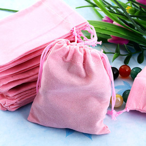 Nuevo 100pcs 7x9cm Velvet Drawstring Pouch Jewelry Bag Weekend Fin de año Año Nuevo Navidad Christmas Wedding Party Gift Pouch Bag Christmas Gift
