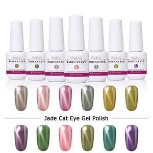 Polonês Gelish 8ml Olho Gel Gel Soak Atacado Prego Jade Nail Lacquer Verniz 3D Gato UV Polonês Off Abnik