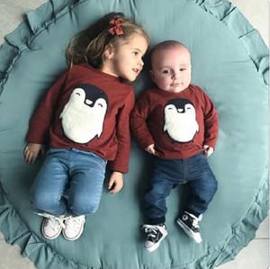 Interphones pour bébé Tapis de jeu Jouer Crawling Blanket Pad Sleeping Mat Assis Coussin rond Super Soft Tapis Décoration Chambre