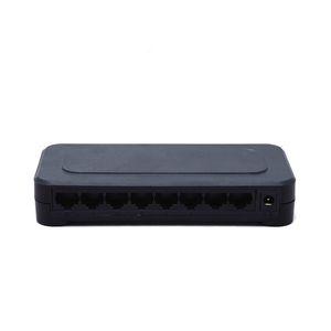 10 / 100Mbps RJ45 de 8 puertos Fast Ethernet Switch Lan de la red Hub de EE.UU. enchufe de la UE Adaptador 5V Fuente de alimentación conmutada