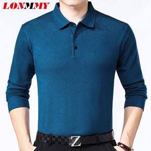 LONMMY 6XL 7XL 8XL camisola Do Natal homens pullover chompas para hombre blusas Dos Homens Soltos em linha reta manga longa Azul Preto vermelho