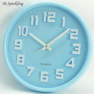 M.Sparkling Simple Horloge Murale 12 Pouce Couleur De Bonbons 5168S Silent Balayage Secondes Moderne Horloges Enfants Horloge En Plastique Suspendus Montres