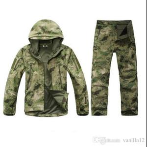 Al por mayor-TAD Stalker Shark Skin Camuflaje Chaquetas de caza Pesca impermeable SoftShell chaqueta al aire libre Set Sport Army Clothes S6