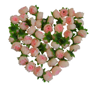 Cabeza de flor artificial rosa 50 unids para la planificación de la boda fiesta de vacaciones 3 cm flor falsa decoración del hogar ducha de bebé