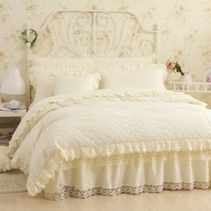 4/6 رباط الأسرة القطنية رباط الأميرة set Queen king size Cotton Duvet cover Bedsheet bed Sheet set Bed cove Pillowcase