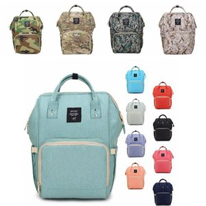 18 cores New Multifunctional do tecido do bebê Mochila Mommy Changing 20pcs Bag Mummy Backpack Fralda Mãe Maternidade Mochilas CCA6787