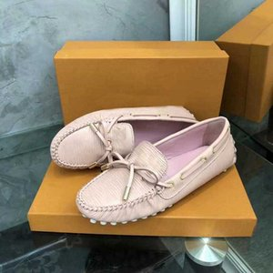 Luxury New Louise Womens Drive Loafers Walk Breathable Dress Slip On Real Leather Single Shoes Size35-41