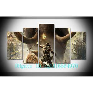 Far Cry Primal, 5 Pieces Холст Печать Настенная живопись маслом Home Decor / (Unframed / Framed)