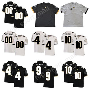 UCF Knights College Football 10 Maglia McKenzie Milton Uomo Home Black Away White 11 Matthew Wright 4 TreQuan Smith 9 Adrian Killins Jr