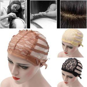 Hot Wig Cap Top Stretch Maille Cap Tissage Cap De Retour Réglable Sangle Cheveux Filet Pour Faire Des Perruques 3 Couleur