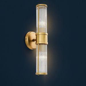 Modern Kristal LED Duvar Lambası Koridor Villa Otel Duvar ışık ev aydınlatma Yatak sanat 1/2 kafaları lambaları WA027 lambaları yanında