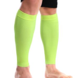 1 paire 2 couleurs haute pression respirante élastique sport veau soutien nuit équitation en cours d'exécution leggings fluorescents # SMT12