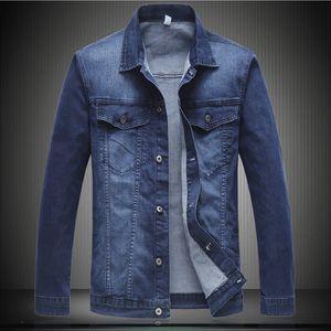 2018 outono novo homens casual denim jaqueta inverno americano jean jaqueta retro plus tamanho xxl-6xl 7115