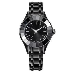 2018 Мода Леди роскошные часы женский черный кварцевые часы женщины оригинальный лебедь часы Топ дизайн бренда наручные часы SatinlessSteel браслет часы