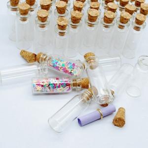 Mini Kleine Tiny Clear Korken Stopper Glas Wishing Flaschen Transparente Glas Glas Cork Bayonet mit Kork