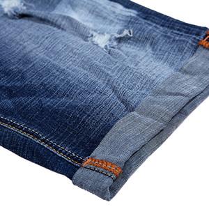 GLO-STORY Mens 2018 Summer Hip Hop Casual Streetwear Pantalones cortos de mezclilla Hombres Soft Ripped longitud de la rodilla Jeans MNK-6257