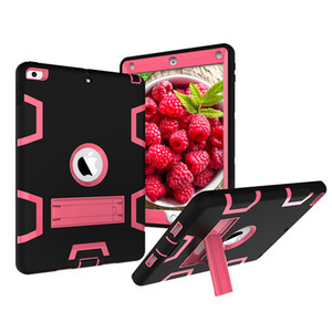 Shockproof Case for Apple iPad 9.7 inch 2017 2018 New Kickstand Kids Silicone Hard Full Body Protective Case Cover for Mini 2 3 4 5 6