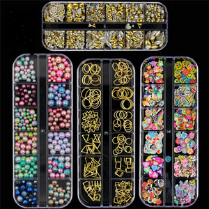 25 Styles bricolage Nail Art Décorations Diamant Perle Fournitures Nail Art Glitter Flakes Ongles Maquillaje