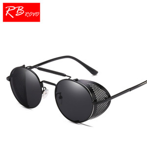 RBROVO 2018 Панк Винтаж солнцезащитные очки для женщин / мужчин классический металл солнцезащитные очки UV400 шоппинг путешествия партия Люнет Soleil Homme HD
