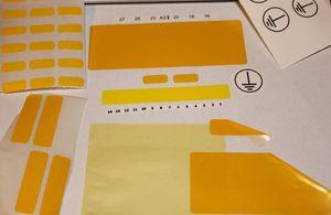 Etichette vuote personalizzate per stampante TT a colori sfondo Etichette vuote per stampanti a trasferimento termico Adesivi su rotoli per la stampa di dymo