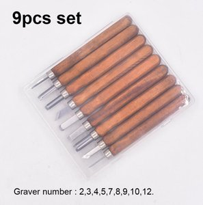 9 في 1 نحت سكين Graver Carver 9pcs مجموعة أدوات نحت الخشب للخشب 60 مجموعة / وحدة