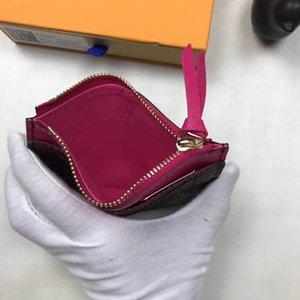 슬림하고 실용적인 지퍼로 묶인 카드 소지자 유니섹스 럭셔리 지퍼 패션 디자인 지퍼 카드 소지자 울트라 슬림 지갑 패킷 백 / 박스 포함