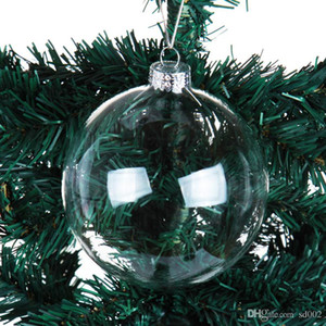 Decorações de Natal soprando bolas transparente oco clear bola bola ornamento pequeno requintado com tamanho diferente 1 95ml cc