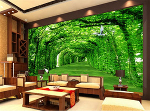 Natura Paesaggio Green Tree for Living Room Wall Art Decor Foto Mural Wallpaper Wallpaper Wallpaper murales 3D