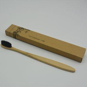 CALIENTE Respetuoso con el medio ambiente Cepillo de dientes de madera Bambú Cepillo de dientes Fibra de bambú suave Mango de madera Bajo en carbono Respetuoso con el medio ambiente Para adultos Higiene bucal