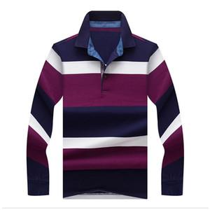 JUNGLE ZONE 2017 TopsTees Camisas para hombres moda Estilo invierno Camisa a rayas color manga larga para hombres camisa sólida