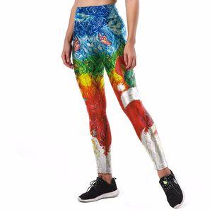 Pantalones de yoga de impresión en 3D Estilo Van Gogh Pintura al óleo abstracta Pantalones de yoga deportivos Fiesta de fitness Cool Leggins Legging Medias