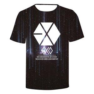 Blackday Liebe 3D Yourself EXO Drucken O-Ansatz Baumwollsommer-T-Shirt Short Sleeve Beliebte Hip Hop-T-Shirt Art und Weise Frauen Baumwolle T-Shirt
