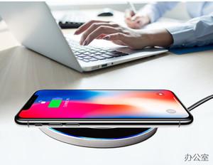 ультра-тонкое зеркальные настольное металлической беспроводное зарядное устройство для Samsung iphone х телефонов быстрой зарядки