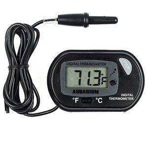 Digital Aquarium Thermometer Fish Tank Water Terrarium Temperature Instruments with Wired Sensor