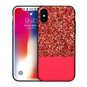 Bling Glitter Shinny antichocs Cell Phone Housse pour iPhone 6 plus 7 8 x