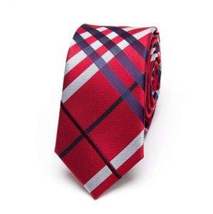 Date Hommes Rouge Cravates De Mode Polyester Maigre Hommes Cravates Largeur 6cm Slim Cravate Marque xgvokh