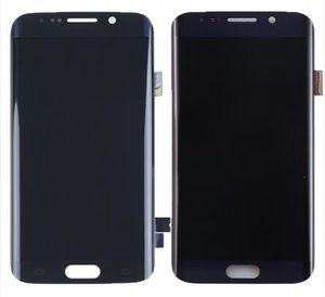 Negro / azul para Samsung Galaxy S6 Edge SM-G925F G925 G925F G920V pantalla LCD digitalizador de piezas de montaje de pantalla táctil
