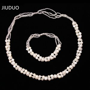 Genuine natural crystal New suit 9-10mm natural pearl agate jade pendant Malay jade necklace bracelet genuine delivery mother