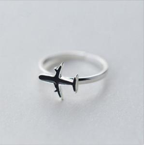 1 Stücke Mode Niedlich Silber Farbe Kupfer Flugzeug Flugzeug flugzeug Offenen Fingerring Einstellbar Für Frauen Party Einzigartige Schmuck Geschenk