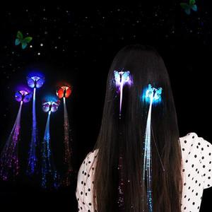 Cabelo Led Trançado Clipe Hairpin Colorido LED Glowing Flash Show Perucas Para Festa de Natal Noite de Halloween ights Decoração