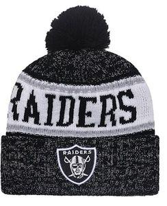 I più venduti Oakland beanie Oakland beanies Sideline Cold Weather Reverse Sport Cuffed Knit Hat con Pom Winer Skull Caps