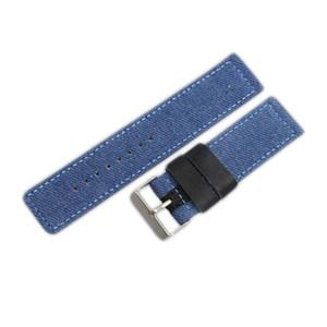 Azul Gris Marrón camuflaje de alta calidad de la lona de la OTAN reloj correa de banda de la hebilla de acero de 24 mm 22 del envío 5pc / lot