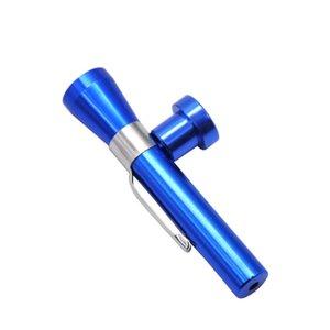 Pipe à fumer en aluminium 61MM avec le tuyau portatif de pipe de cigare en métal pour que vous utilisiez à tout moment la taille de poche