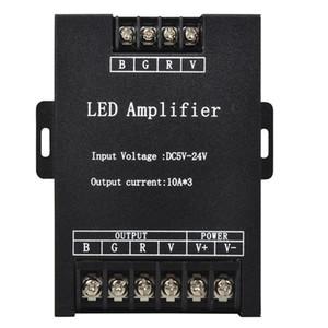 Contrôleur d'amplificateur LED RVB Entrée 12V 24V 15A * 3 répéteur de signal 45A 360W pour 3528 5630 5050 RVB Led Strip
