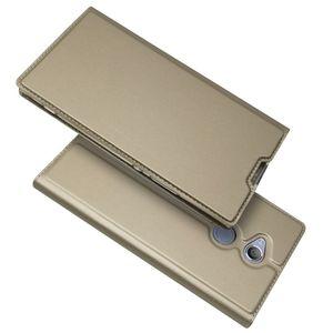 Para sony xperia xz1 estojo compacto xperia l1 flip magnética estojo de couro carteira kickstand capa protetora shell