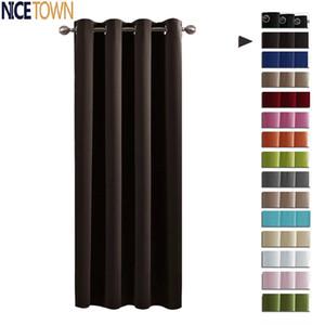 Nicetown oscuras cortinas de ventana / cortinas para la sala de estar aislada termal del ojal / bolsillo de Rod ganchos de suspensión para el dormitorio