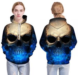 Cosplay Skull Headr Uomo Felpe con cappuccio Felpe 3d Stampate Divertenti Hip Hop Halloween Felpe con cappuccio Novità Streetwear Con cappuccio Giacche autunnali Mlae