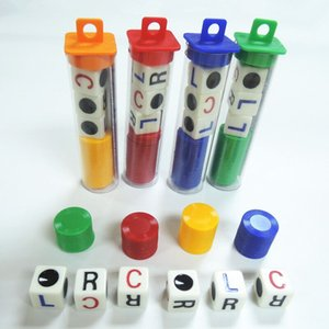 뜨거운 판매 4 가지 색상 재미있는 게임 주사위 영어 버전 장난감 칩 주사위 아이를위한 최고의 선물